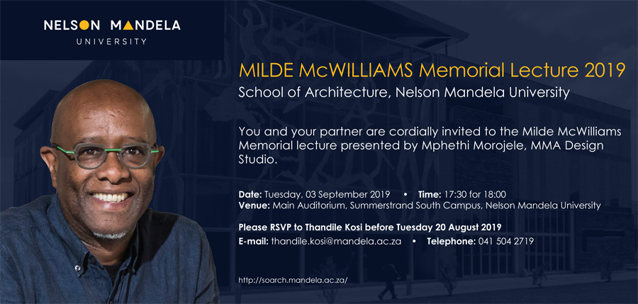 Milde McWilliams Memorial Lecture 2019